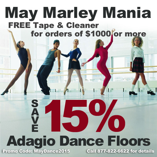 how to lay marley dance floor