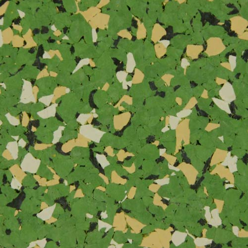 Rubber Flooring Tiles Nuclear 3/8 Inch green.