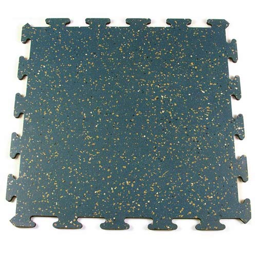 Bestgym Rubber Tile Interlocking Blue