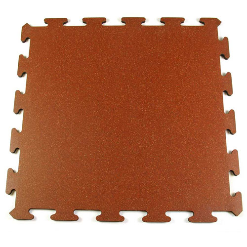 BestGym Rubber Tile Interlocking brickred tile