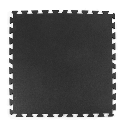 Rubber Utility Tile 3x3 ft x 8 mm Black.