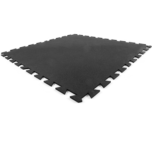 Rubber Utility Tile 3x3 ft x 8 mm Black tile.