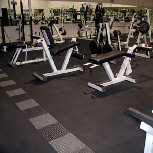 Ziptile Rubber Flooring Interlocking Gym Floor
