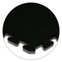 SoftCarpet Tile color swatch black.