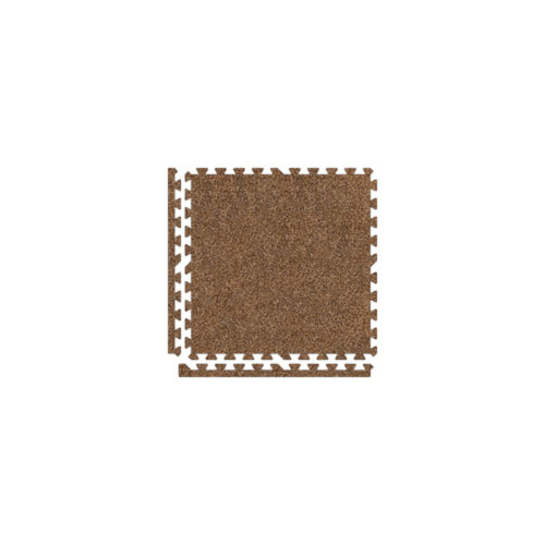 SoftCarpet light brown with borders.