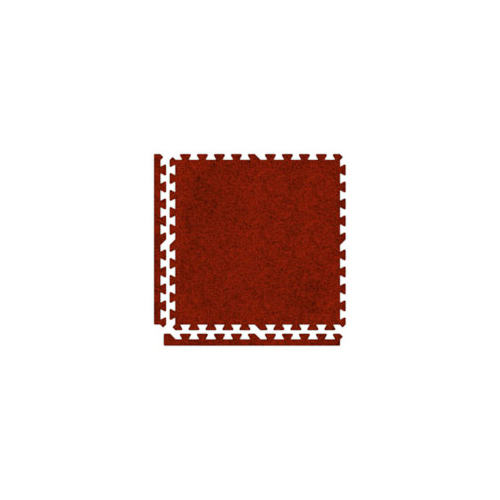 SoftCarpet Tile red tile borders.