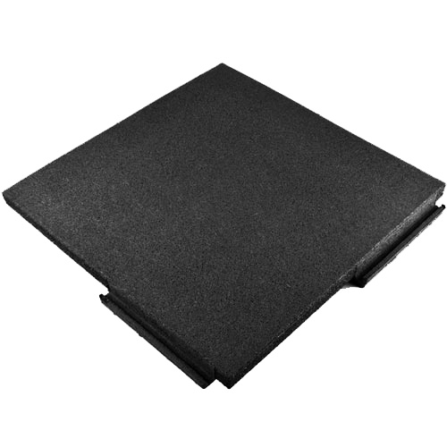 Sterling Playground Tile 2.25 Inch Black Tile full angled.