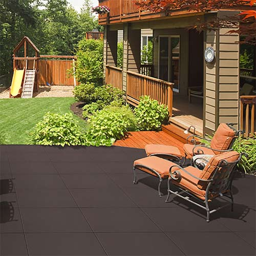 Patio Rubber Floor Tile Sterling Patio Flooring 2 Inch