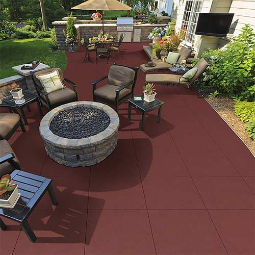 Sterling Rubber Tile Outdoor Terra Cotta Patio Tiles