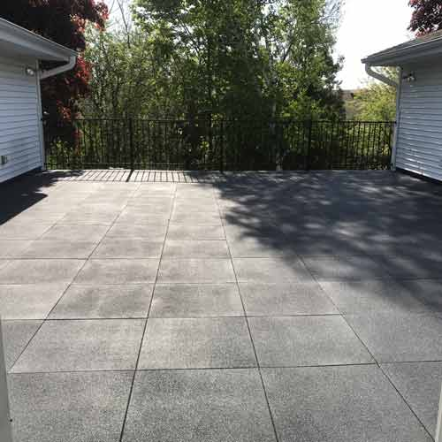 Sterling Gray Patio Rubber Tile 2 Inch Outdoor Flooring