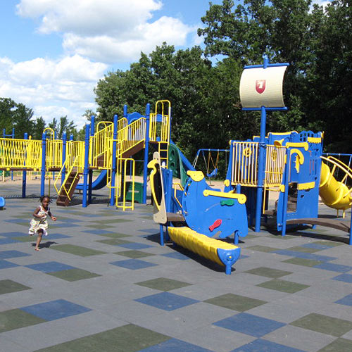 Rubber Playground Mats are do not hide dangers such as sharp objects.