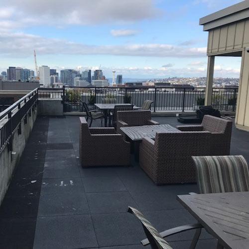 Rubber Roof Deck Patio Tiles