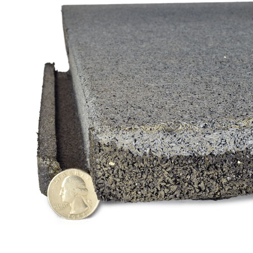 Sterling Roof Top Tile 2 Inch Gray quarter.