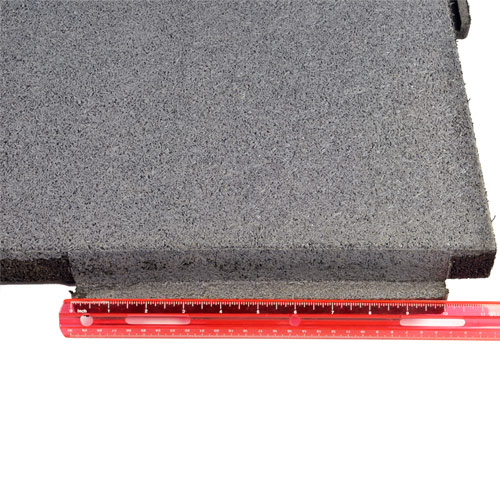 Sterling Roof Top Tile 2 Inch Gray ruler.