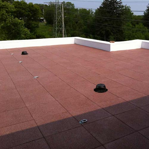 rubber roof deck pavers protective rubber mat for roof top membrane - Rubberised Roof Membrane
