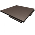 Sterling Athletic Rubber Tile 1.25 Inch Brown