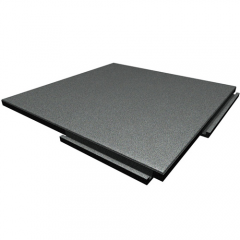 Sterling Athletic Rubber Tile 1 25 Inch Gray