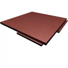 Sterling Athletic Rubber Tile 1.25 Inch Terra Cotta