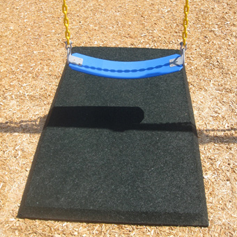 Swing mats will keep little feet from digging holes at the bottom of slides and beneath swing sets.
