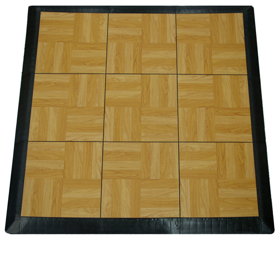 Tap Dance Board Kit showing 9 tiles light oak.