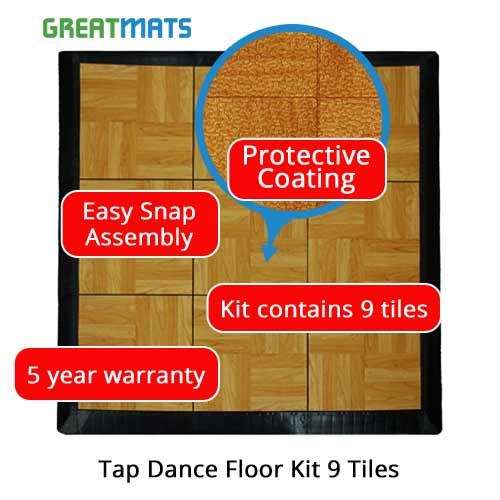 Tap Dance Floor Kit Tiles - Snap board flooring