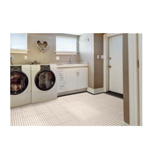 TechFloor Premium with Traction Top Floor Tile Shown in a Laundry Room