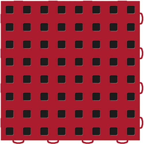 TechFloor Premium with Traction top Red and Black