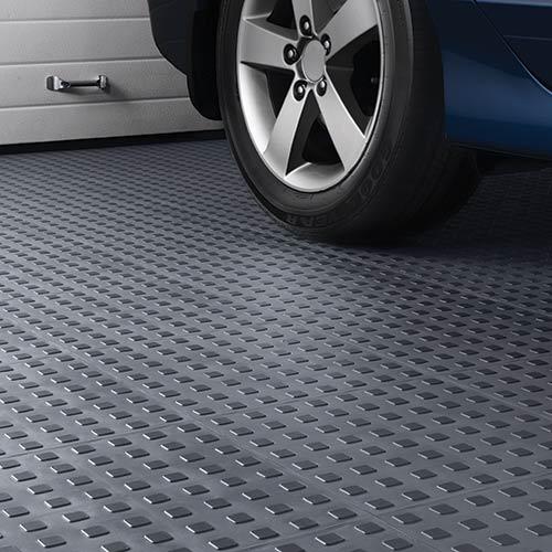 TechFloor Tile with Raised Squares - Garage Floor Tile, Modular Tile