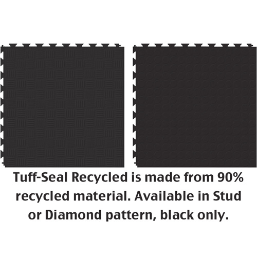 Tuff-Seal Floor Tile Black two surfaces.