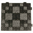 Geo Carpet Tile 1/2 Inch Black thumbnail