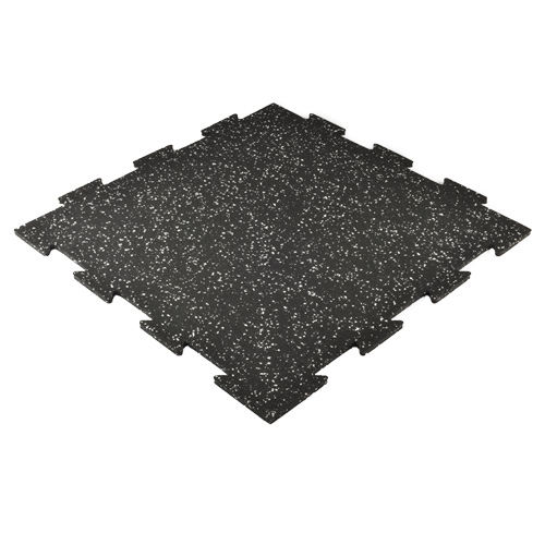 Interlocking Rubber Tile 2x2 Ft 3/8 Inch 20% Color Pacific full angled.