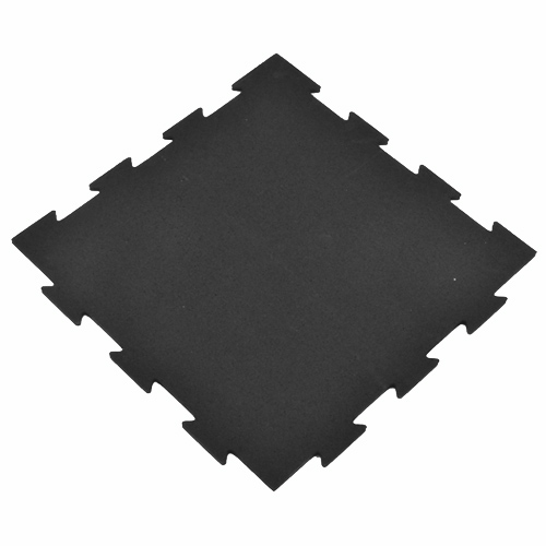Rubber Tile Interlocking 2x2 Ft 1/4 Inch Black Pacific Angle