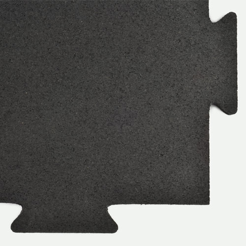 Rubber Tile Interlocking 1 2 In Black