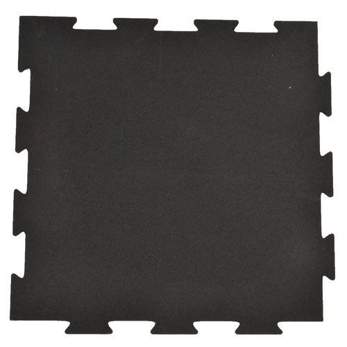 Rubber Tile Interlocking 2x2 Ft 1/4 Inch Black Pacific Full