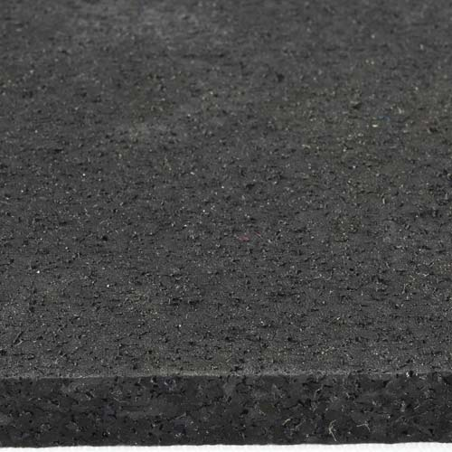 Rubber Tile Interlocking 2x2 Ft 1/4 Inch Black Pacific Surface