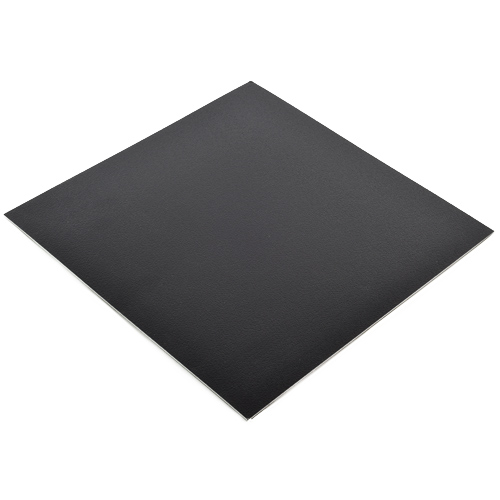 Vinyl Peel and Stick Black Floor Tile 12x12 In. 36 per Carton Angle