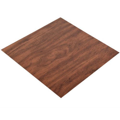 Vinyl Peel and Stick Cherry Plank Floor Tile 12x12 In. 36 per Carton Angle
