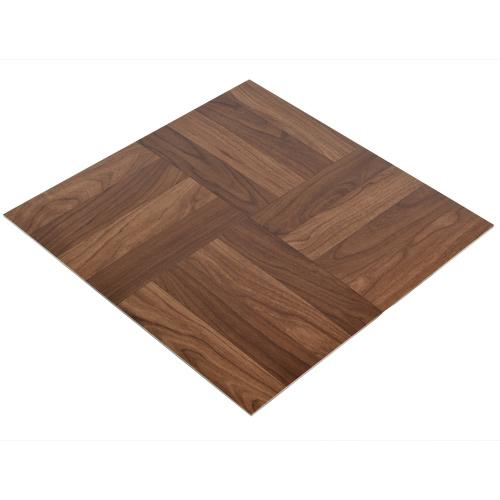 Peel And Stick Dark Oak Vinyl Tile Wood Grain Design Floor Tiles