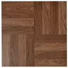 Vinyl Peel and Stick Dark Oak Floor Tile 12x12 In. 36 per Carton