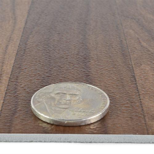 Peel And Stick Dark Oak Vinyl Tile Wood Grain Design