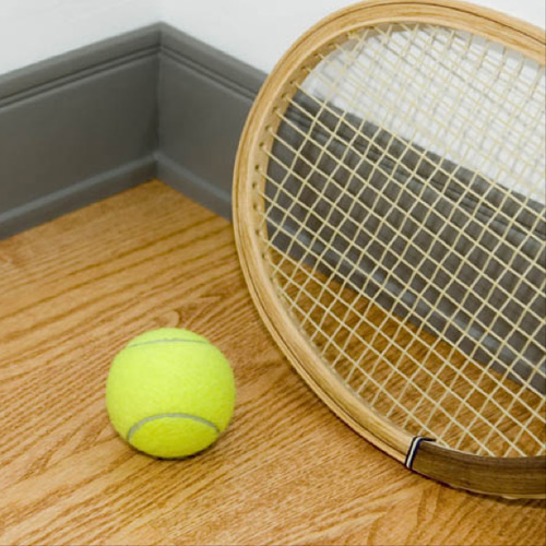 Wall Base with tennis ball.