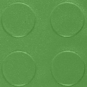 Coin Top PVC Interlocking dark green swatch.