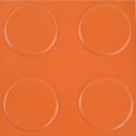 Coin Top PVC Interlocking orange swatch.