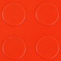 Coin Top PVC Interlocking red swatch.