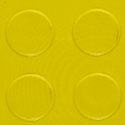 Coin Top PVC Interlocking yellow swatch.