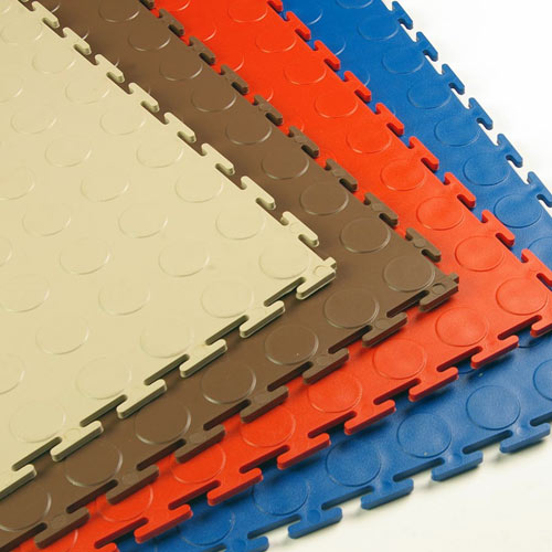 PVC Coin Tile Interlocking Colors Ever.