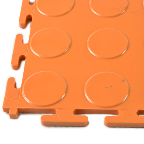 PVC Coin Tile Interlocking Colors Ever corner.