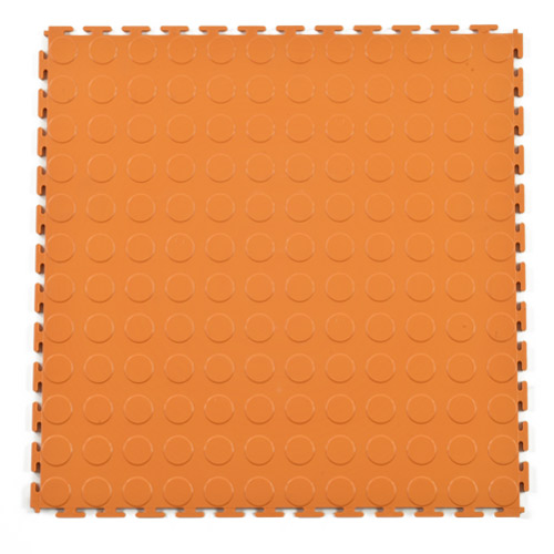 PVC Coin Tile Interlocking Colors Ever orange full.