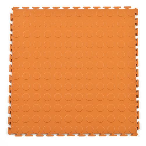 Pvc Coin Tile Interlocking Colors Ever Orange Full