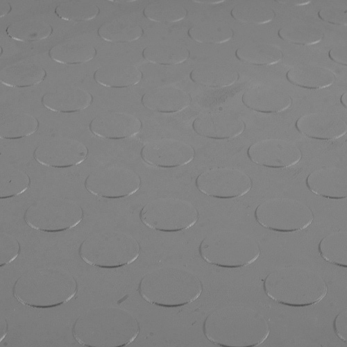 Warehouse Floor Coin PVC Tile Gray top surface.